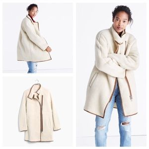 Madewell Sherpa Cocoon Coat - Like New